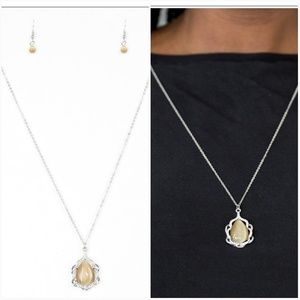 KEEP IT ON THE DOWN GLOW BROWN MOONSTONE NECKLACE/